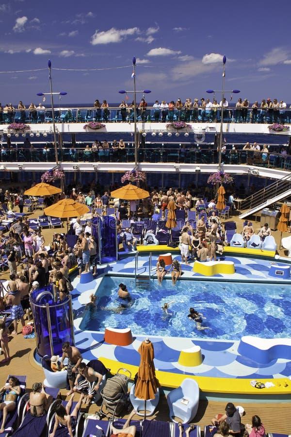 Caribbean Dream - Cruise Ship Fun Poolside Editorial Image