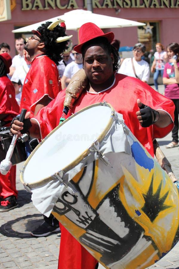Caribbean drummer royalty free stock photo