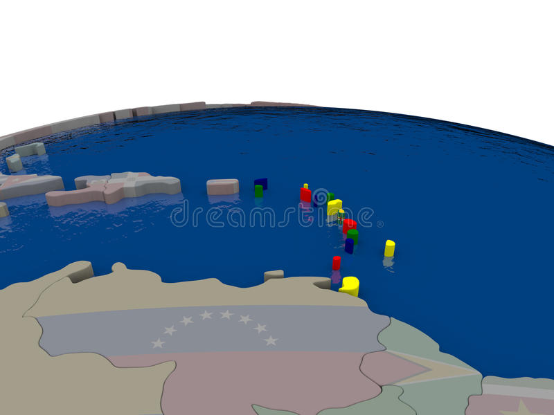Download Caribbean With Flag Stock Illustration - Image: 83717613