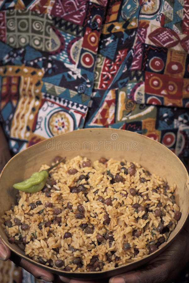 Caribbean food: Pelau royalty free stock photo