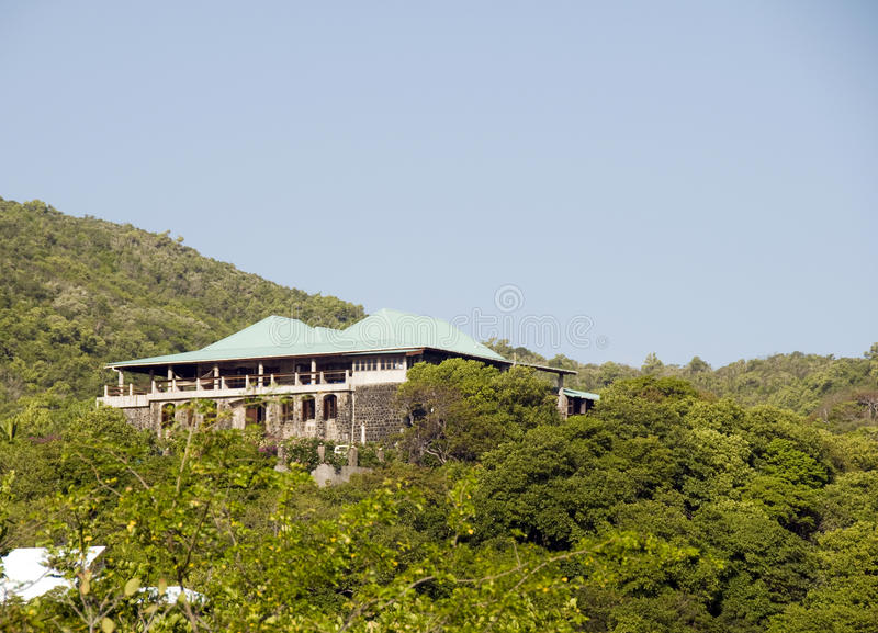 Caribbean house mansion bequia stock photography