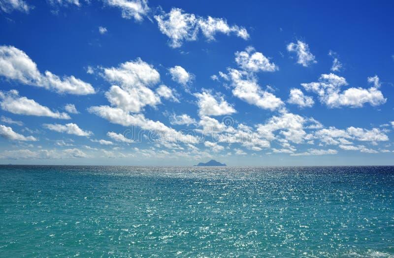 Caribbean island. Beautiful tropical background, Caribbean sea stock image