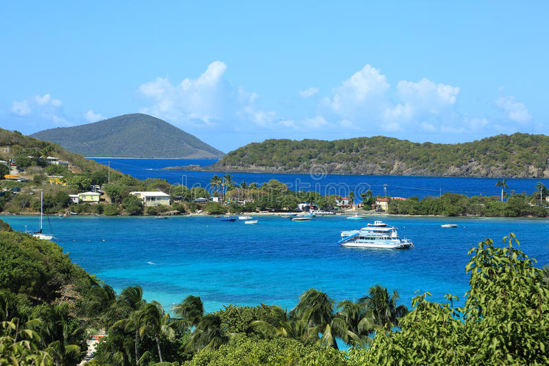 Caribbean islands. Landscape of caribbean islands, US virgin islands royalty free stock photography