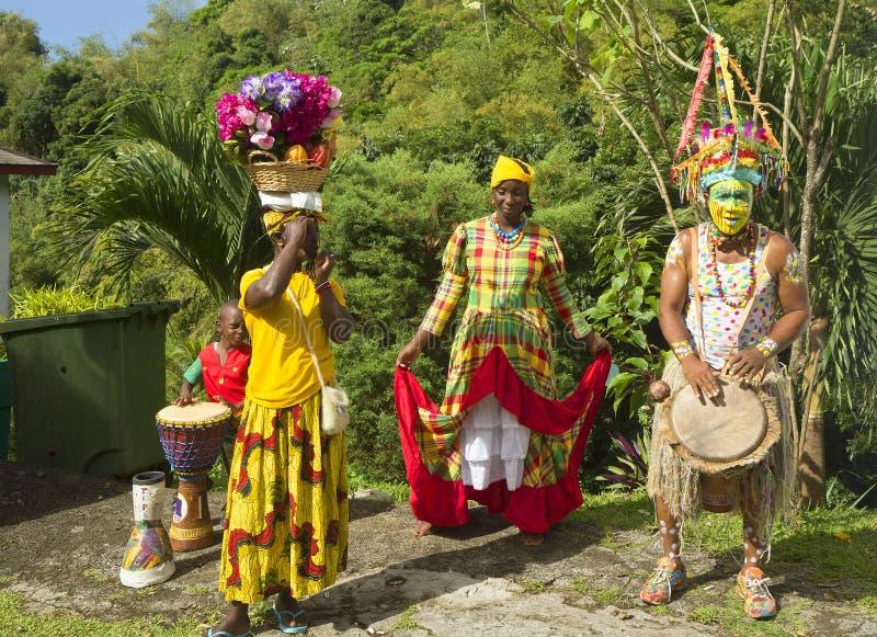 caribbean Krajowy kostium wyspa Grenada fotografia stock