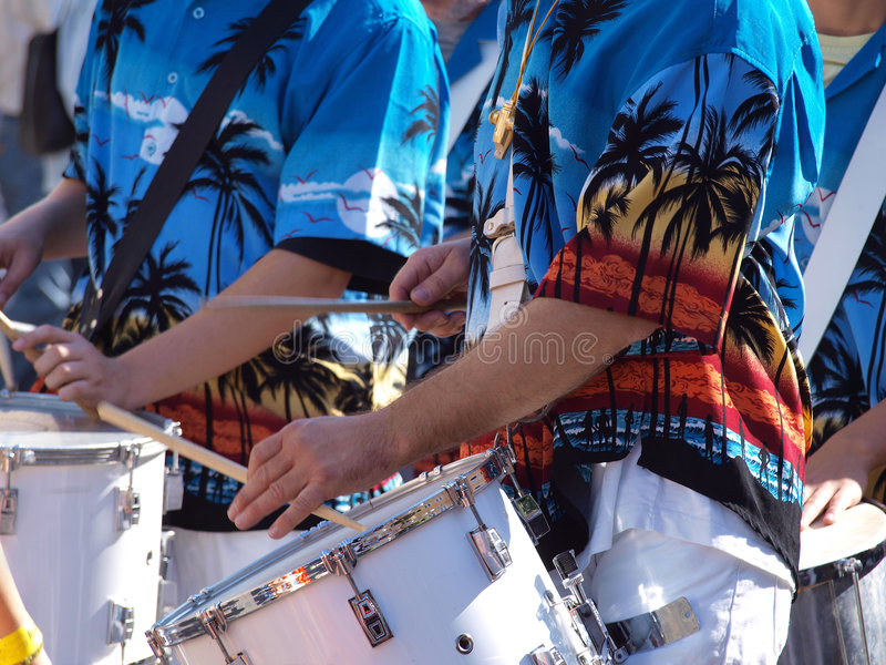 Caribbean latin music. Played on percussion drums stock photo