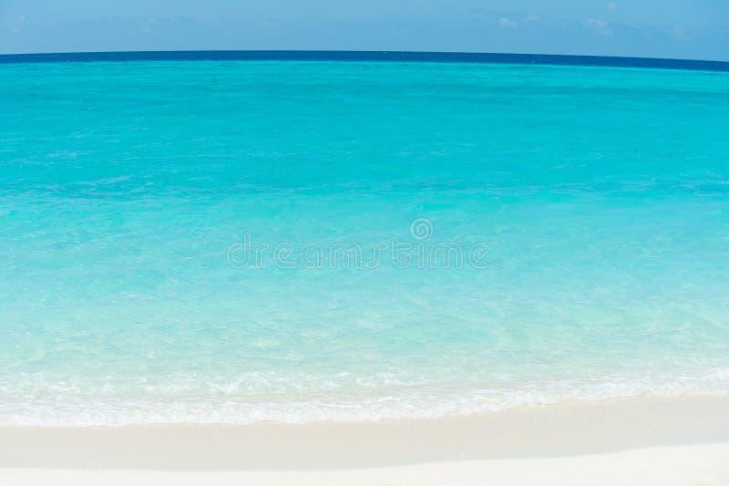 Caribbean ocean and beach stock image