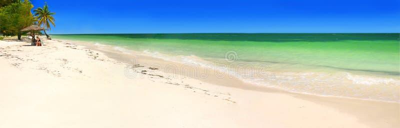Caribbean panorama royalty free stock image
