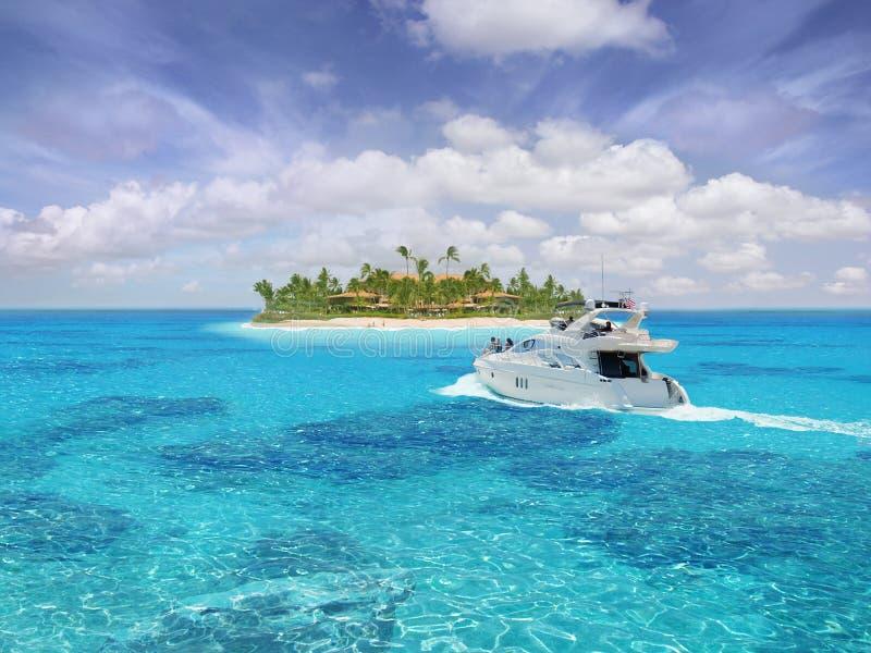 Caribbean paradise royalty free stock images