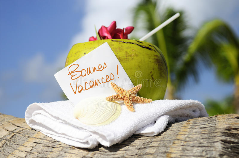 Download Caribbean Paradise Beach Coconuts Cocktail Stock Image - Image: 24350349