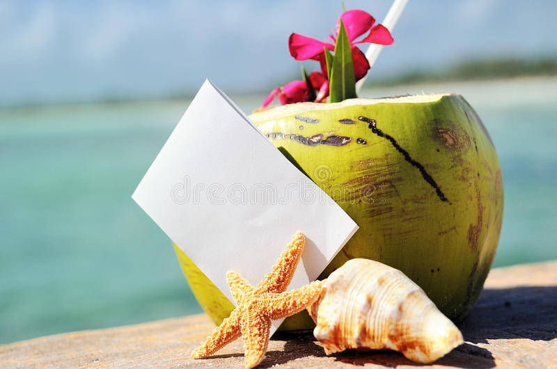 Download Caribbean Paradise Beach Coconuts Cocktail Stock Photo - Image: 32466814