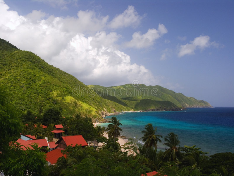 Caribbean Perfect Resort View stock image
