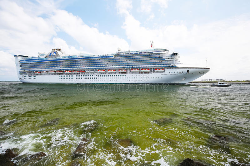 Caribbean Princess Cruise Ship stock image