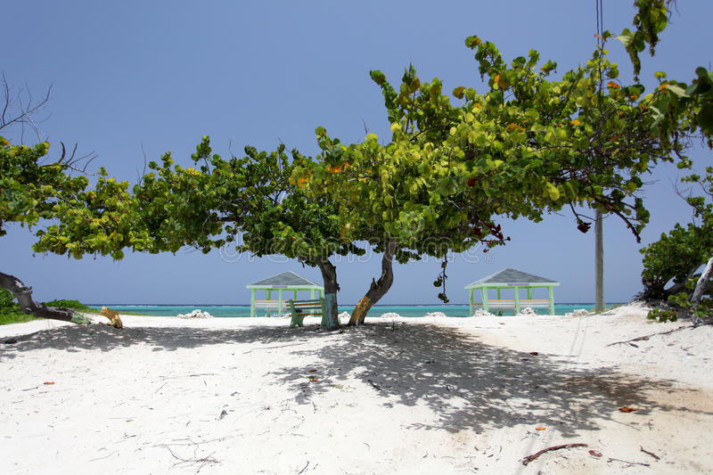 Caribbean public beach royalty free stock images