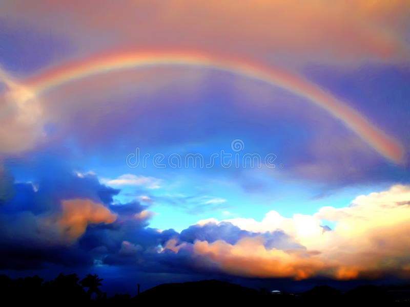 Download Caribbean Rainbow stock illustration. Image of colors - 10261143