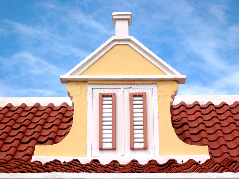 Caribbean Roof Top stock images