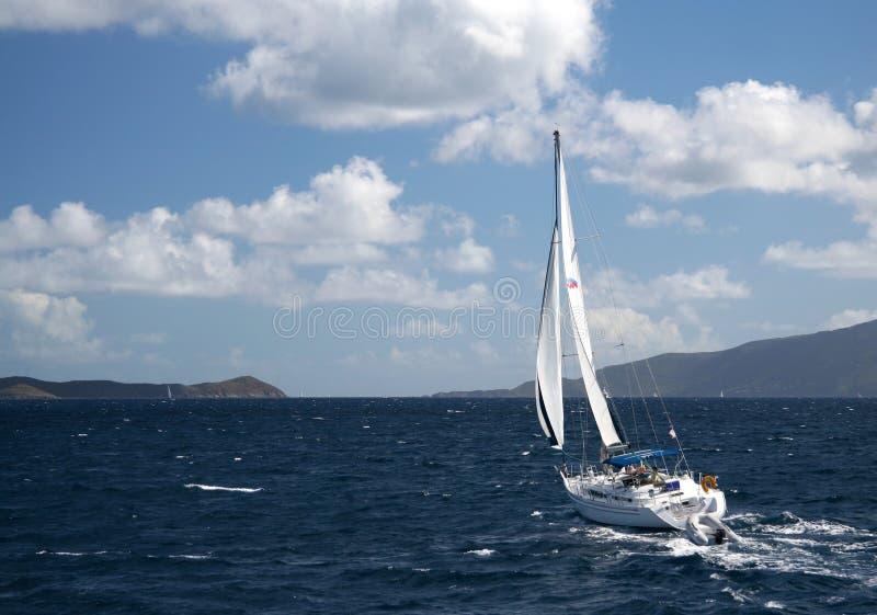 Caribbean Sailing stock photos
