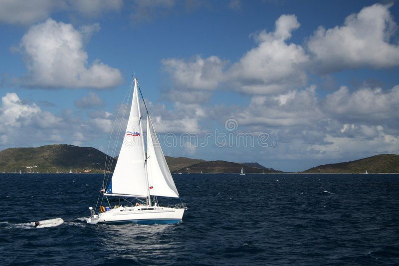 Caribbean Sailing royalty free stock images