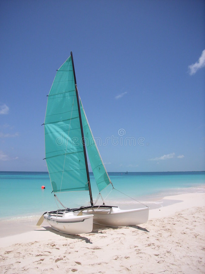 Caribbean sailing royalty free stock photo