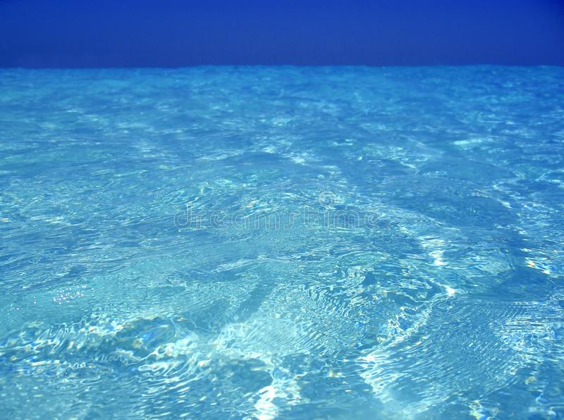 Caribbean Sea Blue Turquoise Water In Cancun Stock Photo