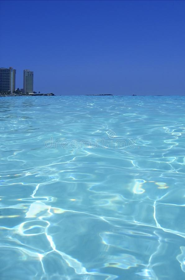 Caribbean Sea Blue Turquoise Water In Cancun Stock Photos