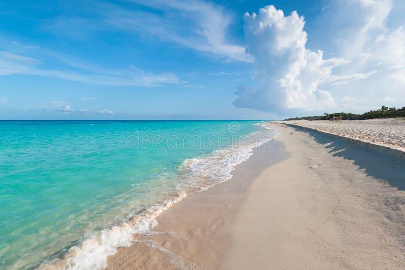 Caribbean Sea in Playacar stock image