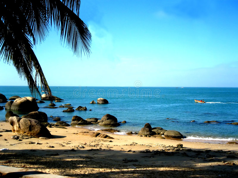 Download Caribbean Sea-side stock image. Image of shine, rocks - 3244425