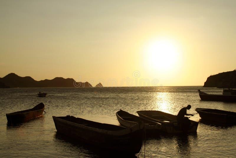 Caribbean Sea. Taganga Bay. Colombia. stock images
