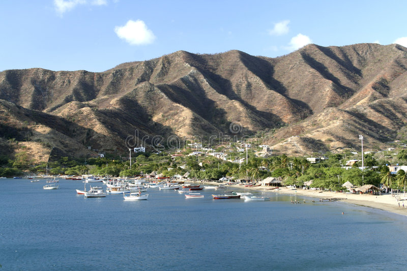 Caribbean Sea. Taganga Bay. Colombia. stock image