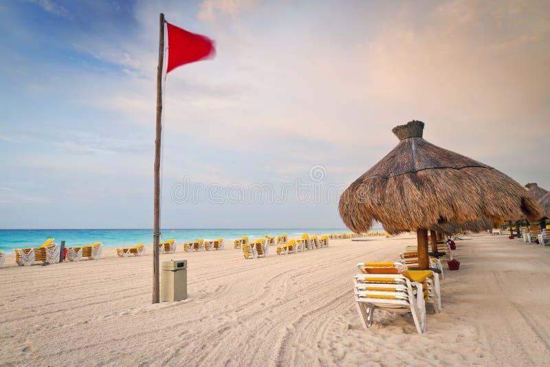 Caribbean sunrise on the beach royalty free stock photos