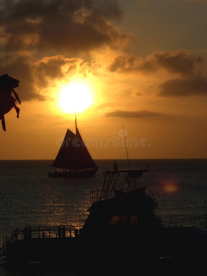 Download Caribbean sunset stock photo. Image of sailboat, ocean - 3106670