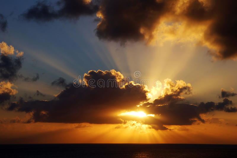 Caribbean Sunset royalty free stock photography