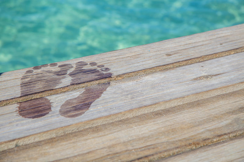 Caribbean Wet Feet royalty free stock image