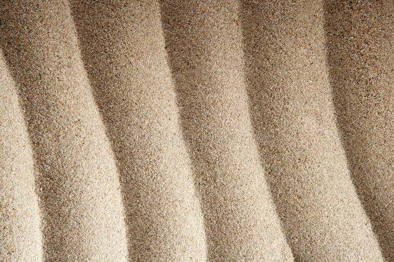 Caribbean White Wavy White Sand Texture Lines Stock Photography