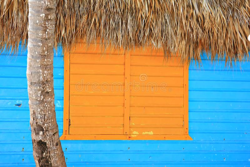Caribbean window stock image