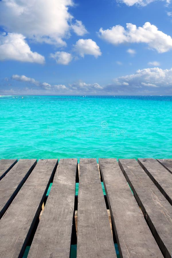 Download Caribbean Wood Pier With Turquoise Aqua Sea Stock Photo - Image: 19470264