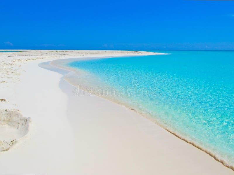 caribbeans缓慢地cayo古巴paraiso playa 库存照片