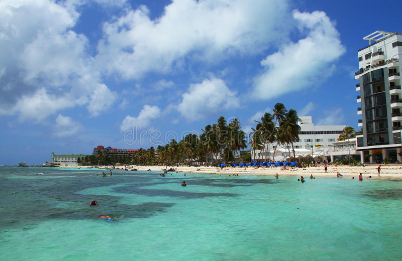Caribean hotell i Colombia royaltyfri fotografi