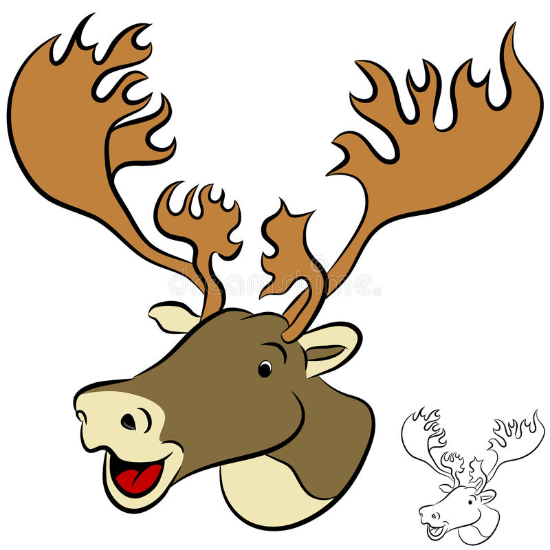 Download Caribou stock vector. Image of friendly, cute, graphic - 22696504