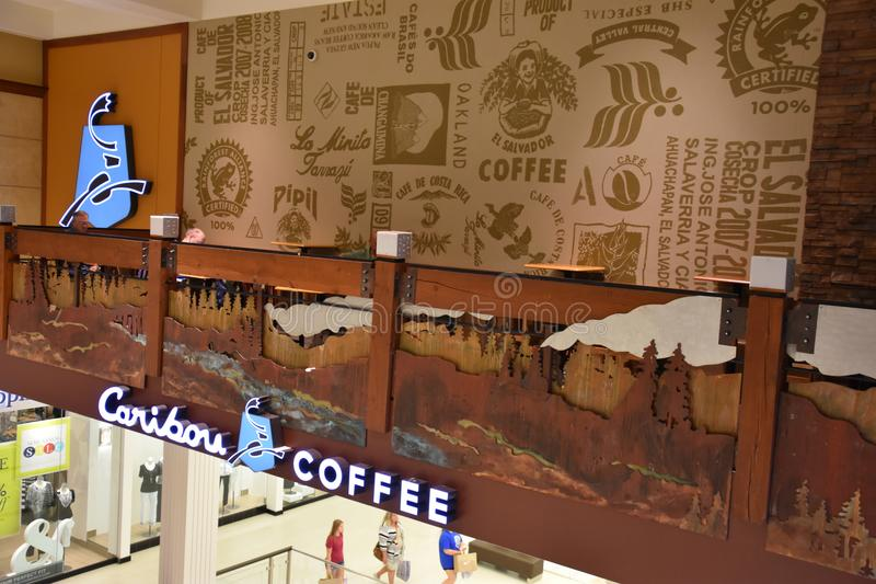 Caribou Coffee at Mall of America in Bloomington, Minnesota. USA stock images