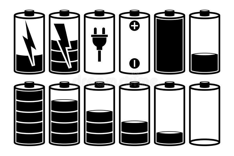 Carica della batteria illustrazione di stock