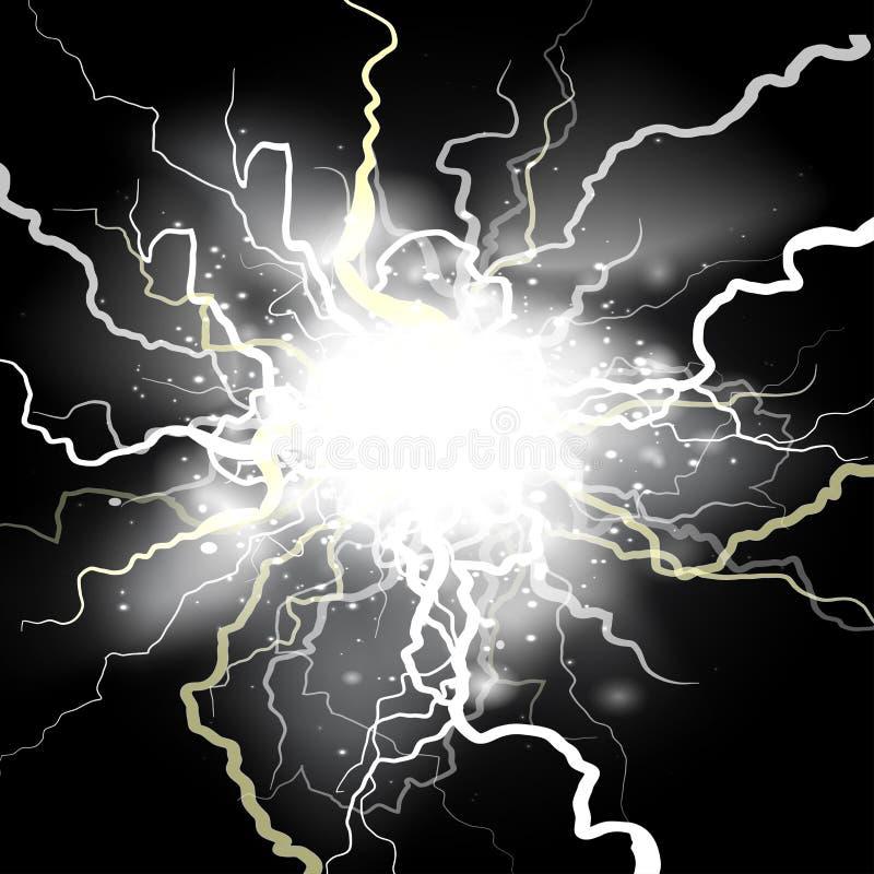 Carica elettrica di colpo di fulmine royalty illustrazione gratis
