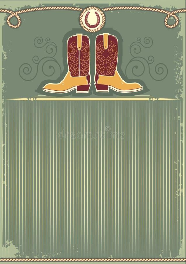 Caricamenti del sistema del cowboy. illustrazione di stock
