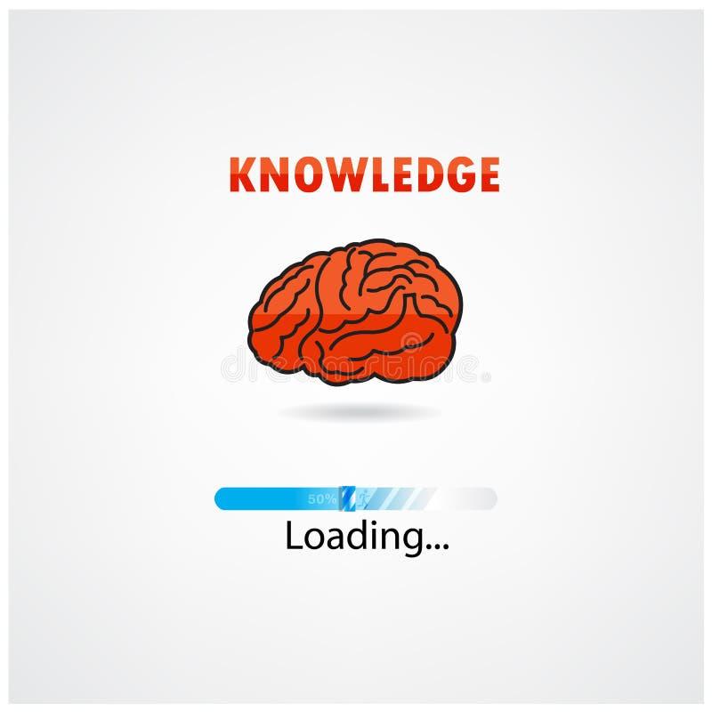 Caricamento creativo del cervello, concetto di istruzione royalty illustrazione gratis