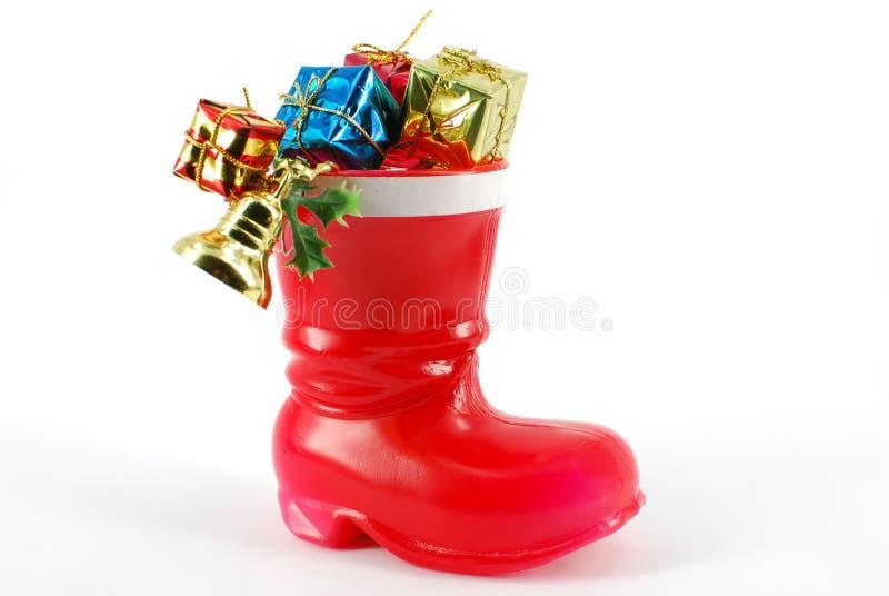 Caricamento del sistema di colore rosso del Babbo Natale immagine stock