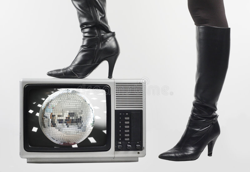 Caricamento del sistema e TV immagine stock libera da diritti