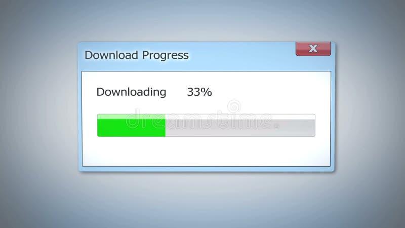 Caricamento di programmi oggetto lento del contenuto rapinato, sistema operativo antiquato, finestra di dialogo immagini stock libere da diritti