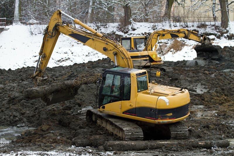 Caricatore di escavatore fotografia stock
