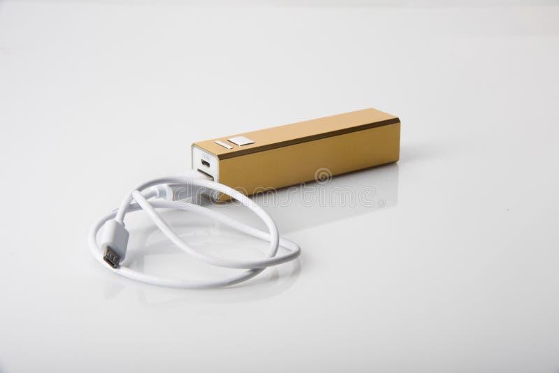 Caricatore portatile con cavo fotografia stock libera da diritti