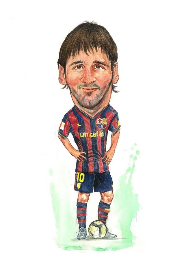 Caricatura de Messi ilustração do vetor