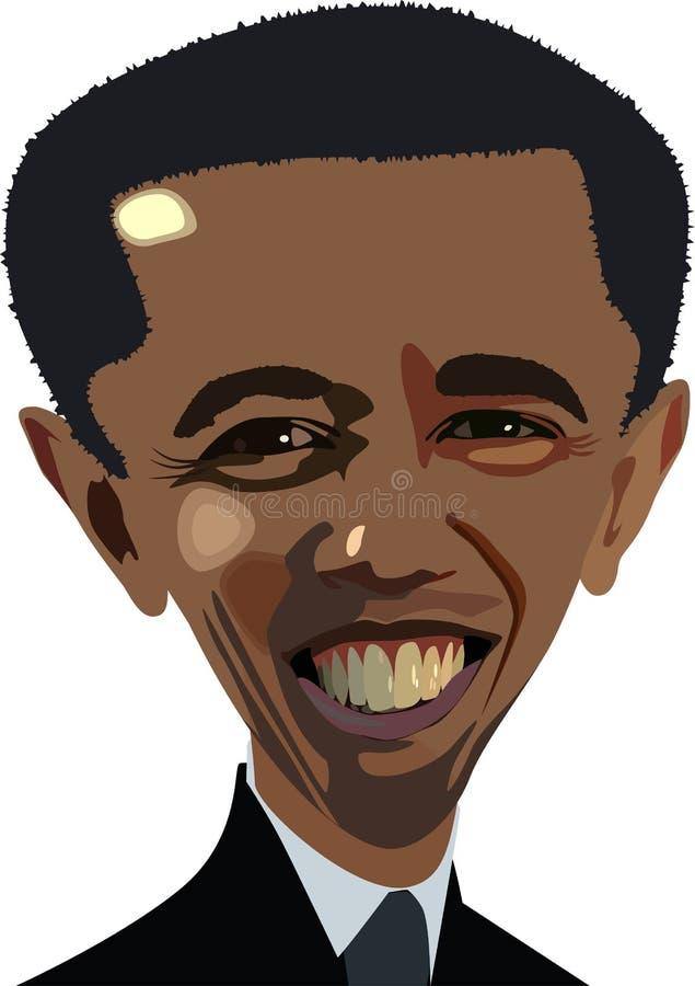 Caricatura de Obama ilustración del vector